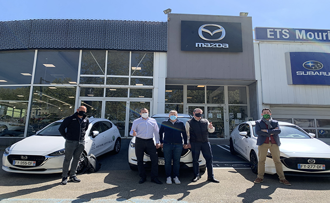 MAZDA & le Groupe MOURIER – Véhicules officiels du Rugby Club Nîmois